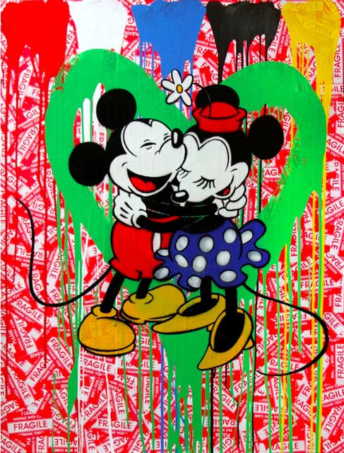 Mr. Brainwash, 'Mickey & Minnie in love (green heart)', 2014, Aurifer AG