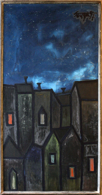 , 'Houses at Night,' 1957, Aicon Gallery