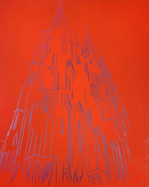 Andy Warhol, 'Cologne Cathedral', 1985, Print, Unique screenprint with diamond dust on Lenox Museum Board, Hamilton-Selway Fine Art