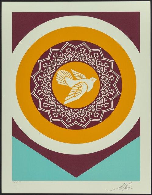 Shepard Fairey, 'Untitled, from Obey Peace Series 2 (Doves)', 2015, Print, Silkscreen in colors on Stonehenge Natural paper, Heritage Auctions
