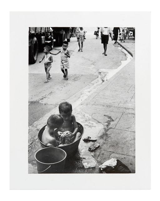 , 'Bathing in the Street (Yen Chow Street, Sham Shui Po),' 1963, Blindspot Gallery