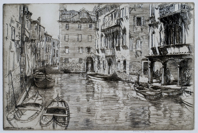 Donald Shaw MacLaughlan, 'Canal of the Shadow, Venice', 1926, Private Collection, NY