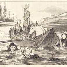Honoré Daumier, 'En pleine eau', 1847, National Gallery of Art, Washington, D.C.