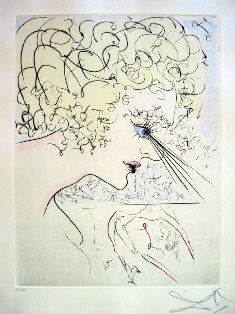 Salvador Dalí, 'La Tête (The Head)', 1969, Print, Etching, Puccio Fine Art