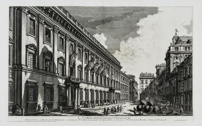 Veduta del Palazzo Odescalchi, from: Vedute di Roma