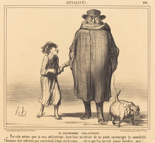 Honoré Daumier, 'M. Prudhomme Philantrope', 1856, National Gallery of Art, Washington, D.C.