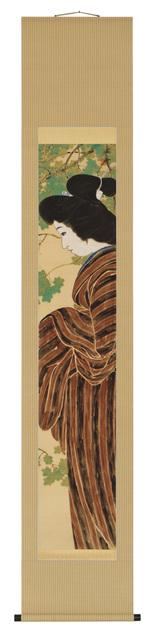 , 'Bijin in Striped Kimono,' ca. 1912, Erik Thomsen