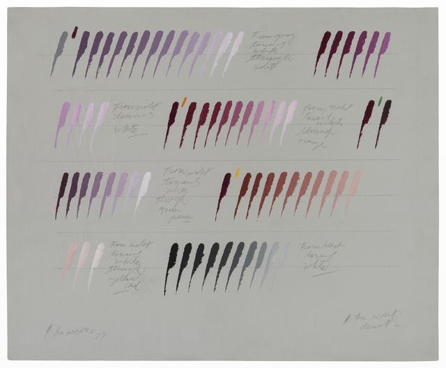 , 'The violet disot,' 1977, Herlitzka + Faria