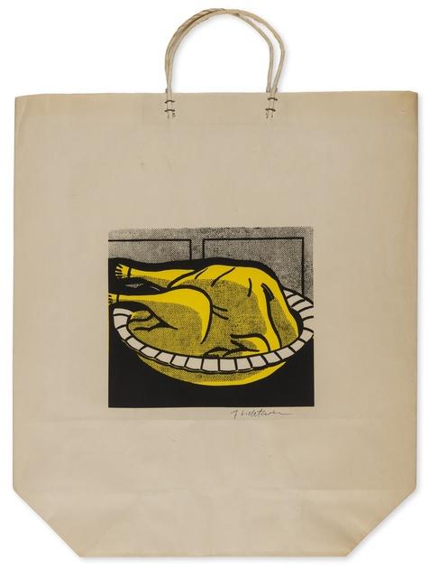 Roy Lichtenstein, 'Turkey Shopping Bag (Corlett App.4)', 1964, Print, Screenprint in colours, Forum Auctions