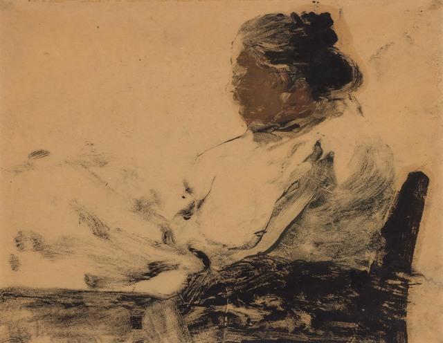 Joseph Stella, 'UNTITLED (READER)', circa 1912, Doyle