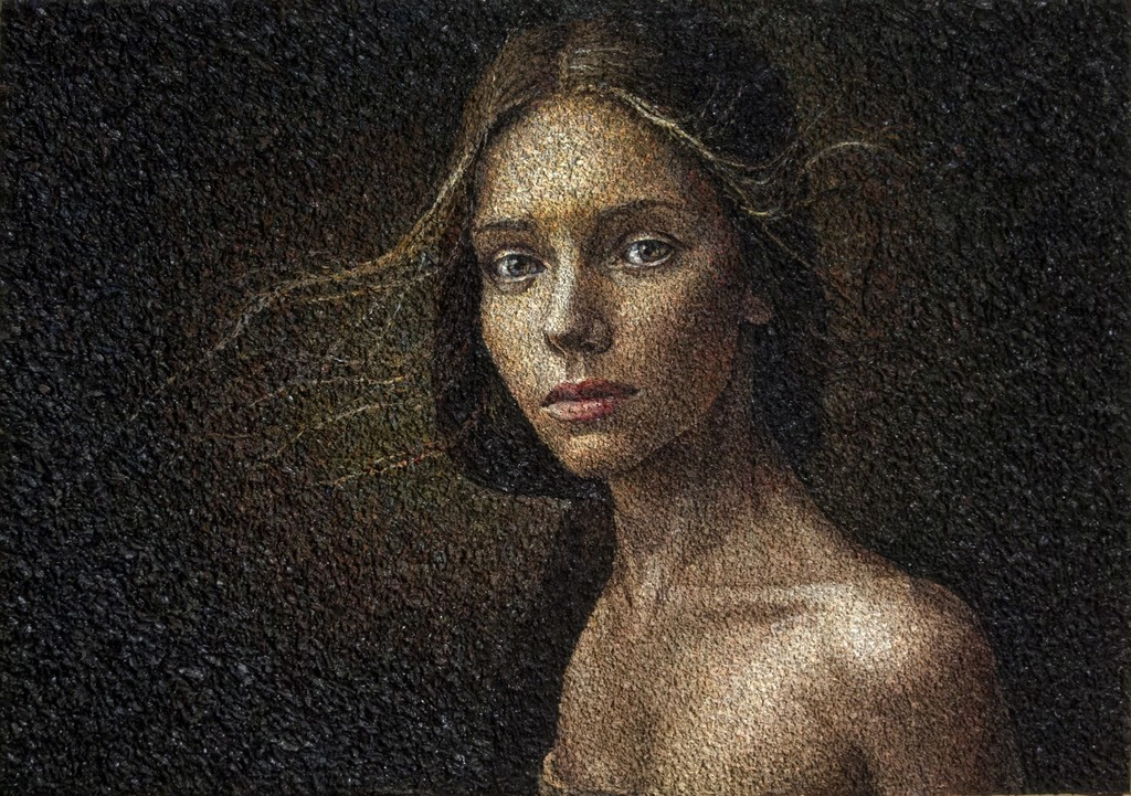 """John Atwood, """"Eve"""", oil on canvas"""