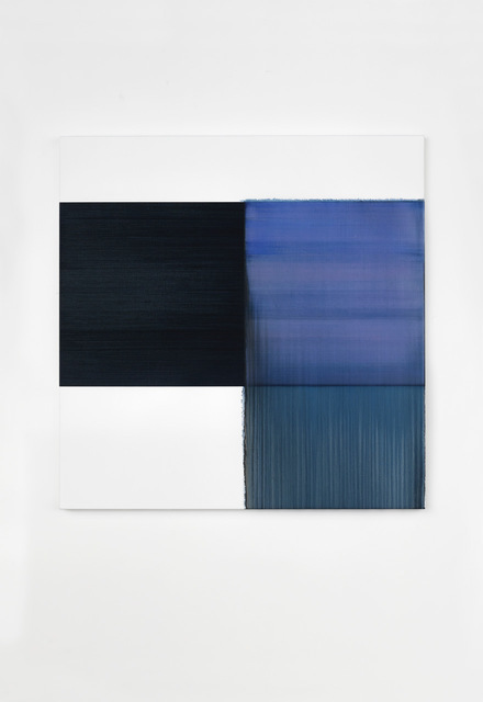 Callum Innes, 'Exposed Painting Delft Blue / Violet', 2020, Painting, Oil on linen, i8 Gallery