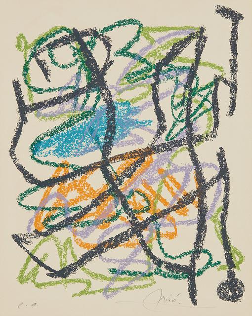 Joan Miró, 'Je travaille comme un jardinier (I work as a Gardener): one plate', 1963, Phillips