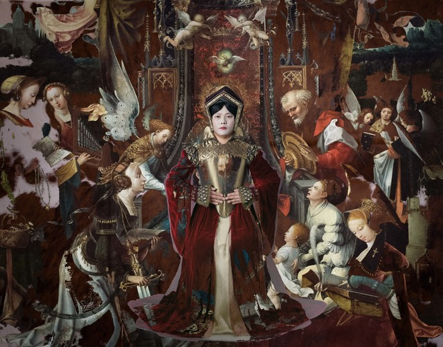 , 'Jumping Into 'The Virgin and Child Enthroned, with Saints, Jan de Beer and workshop',' 2017, Purdy Hicks Gallery