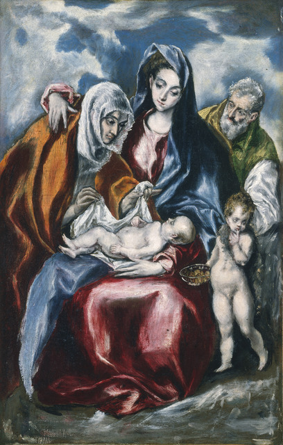 El Greco, 'The Holy Family with Saint Anne and the Infant John the Baptist', ca. 1595/1600, National Gallery of Art, Washington, D.C.