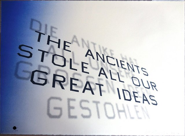 Ed Ruscha, 'Mark Twain Quote (The Ancients Stole All Our Great Ideas)', 2012, Pop Fine Art