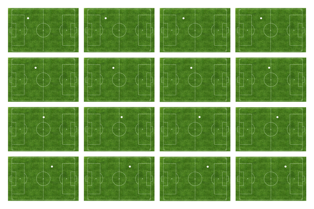 , 'Football Pitch (detail), series of 826 photographs,' 2016, Rodriguez Gallery
