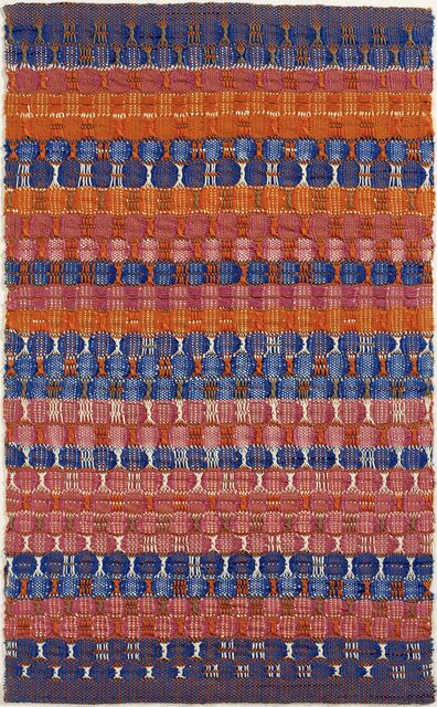 Anni Albers, 'Red and Blue Layers', 1954, Guggenheim Museum Bilbao