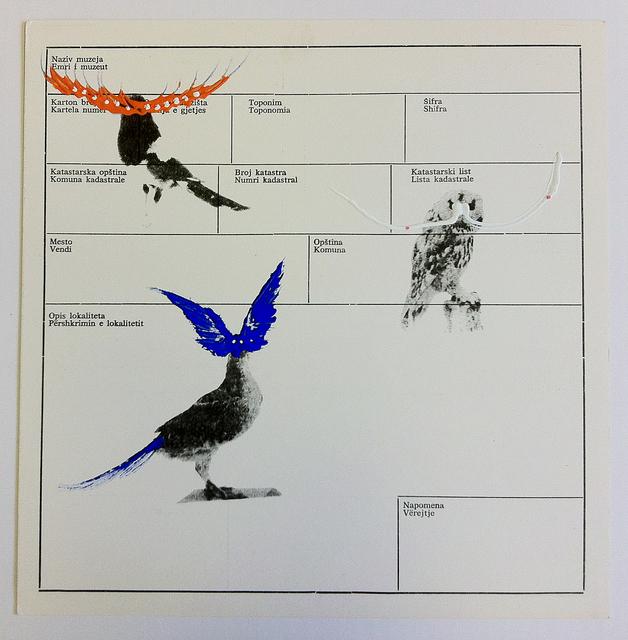 Petrit Halilaj, 'Several birds fly away when they understand it (Museum archive paper 8)', 2013, ChertLüdde