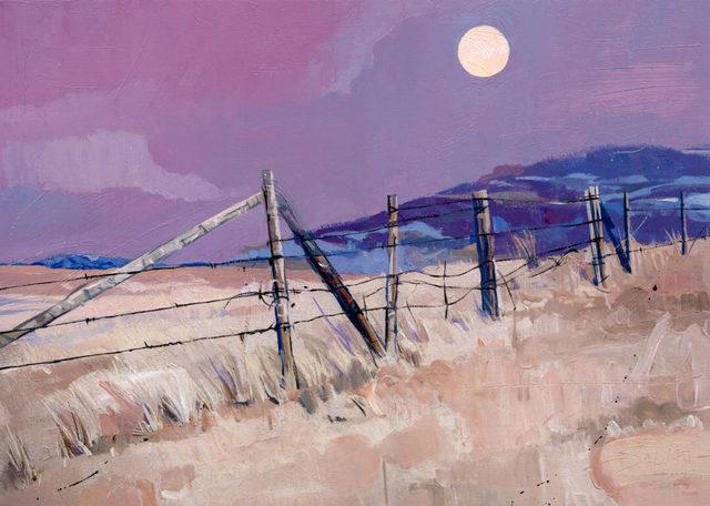 , 'Magenta Moon,' 2017, Adelman Fine Art