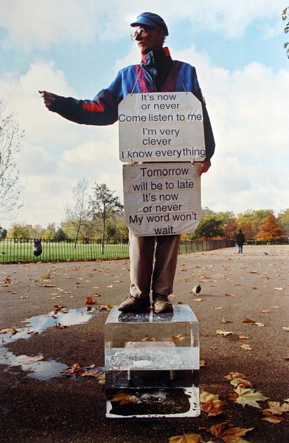 , 'now or never (The speakers corner project),' 2005, carlier | gebauer
