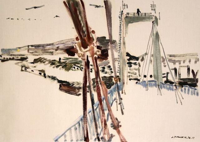 , 'View of Sailors Island from the Old Bridge, December 3, 2017,' 2017, Robert Kananaj Gallery