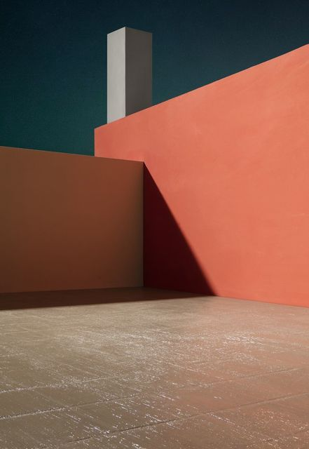 , 'Courtyard with Orange Wall,' 2017, Templon