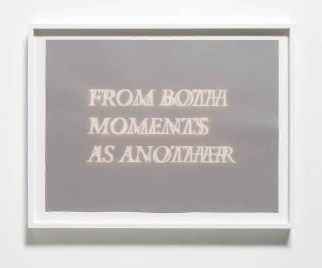 , 'From Both Moments as Another,' 2013, Meliksetian | Briggs