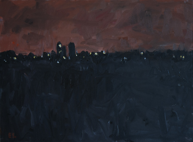 , 'Dairy Farm Night with Pink Sky,' 1999, C. Grimaldis Gallery