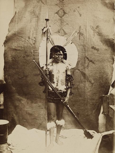 Marc Ferrez, 'Costume des chefs indiens Capayó (Goyaz)', 1880, Swann Auction Galleries