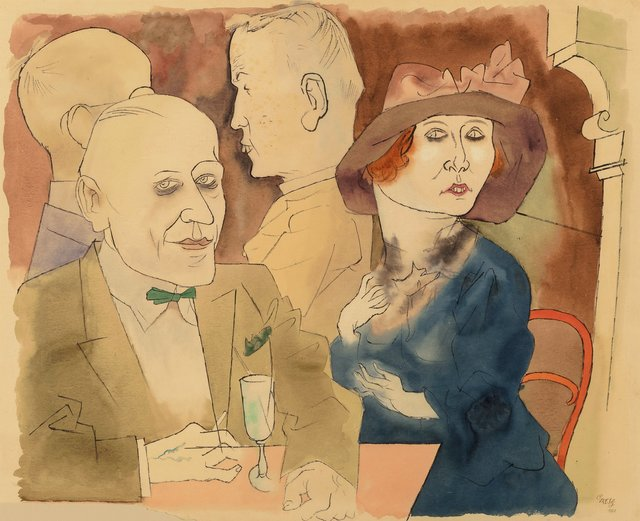 George Grosz, 'Im Café (Seminude Woman with Champagne Glass on verso)', 1922, Heritage Auctions