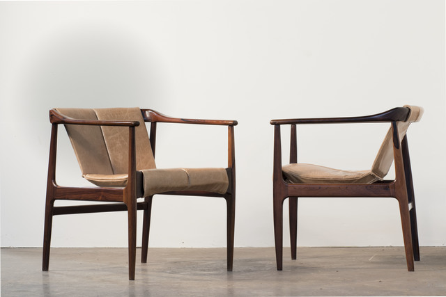 Bernardo Figueiredo, 'Pair of Rosewood and Leather Armchair', 1960, Bossa