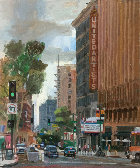 Alex Schaefer, 'United Artists Building, 9th and Broadway', 2019, Painting, Canvas, Castelli Art Space