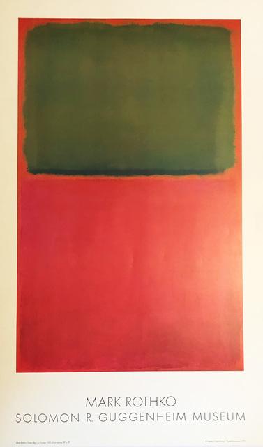 Mark Rothko, 'Mark Rothko 1978 Guggenheim Museum exhibition poster', 1978, Lot 180