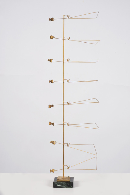 , 'Column of Eight Triangles with Spirals,' 1973, Marlborough London