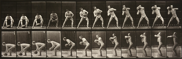 , 'Animal Locomotion: Plate 318 (Man Lifting Ball to his Shoulder),' 1887, Huxley-Parlour