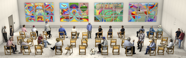 David Hockney, 'Pictures at an Exhibition', 2018, Galerie Lelong & Co.