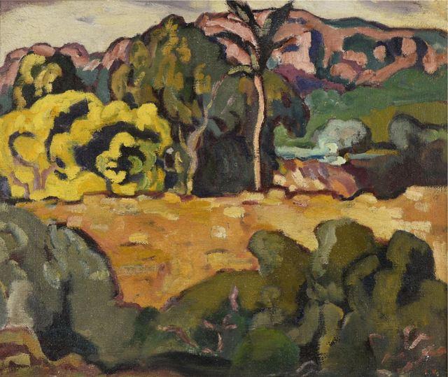 Louis Valtat, 'Paysage du midi au palmier', ca. 1909, BAILLY GALLERY