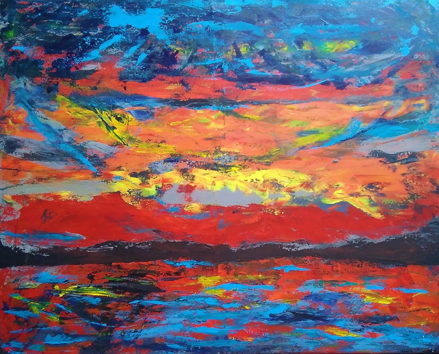 Angela Burns, 'Red Sky in Mourning', 2019, Maggio Art Consultancy