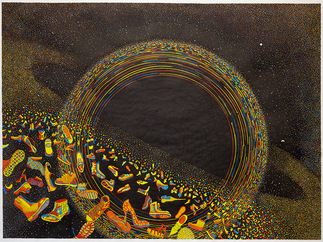 Styrmir Örn Guðmundsson, 'Black hole, in red, yellow and blue', 2014-2019, BERG Contemporary