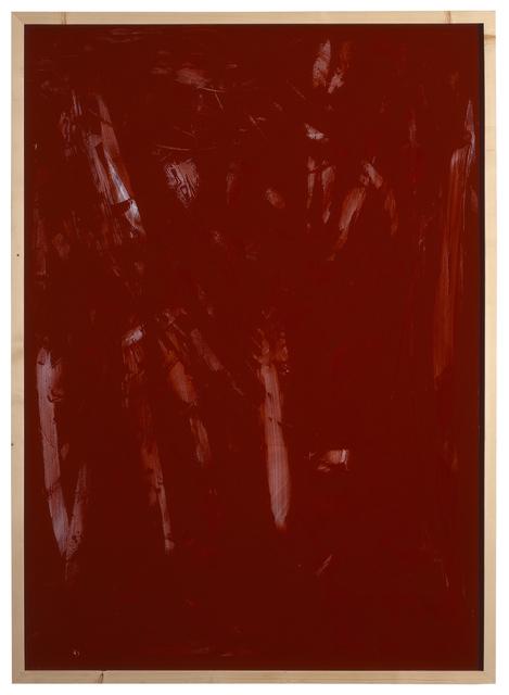 , 'Rote Acrylglaszeichnung 9,' 1990, Jahn und Jahn
