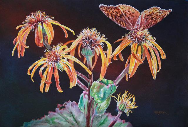 , 'Ligularia & Fritillary,' , Peninsula Gallery