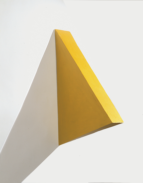 , 'Volumetric Painting of a Yellow Triangle,' 2000, Cosmocosa