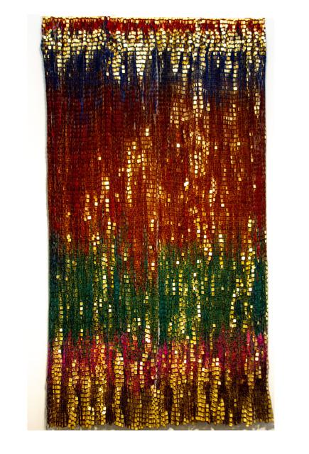 Olga de Amaral, 'Escrito 19', 2017, Textile Arts, Linen, acrylic, gesso and gold leaf, Galería La Cometa