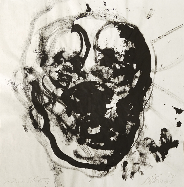 Christian Lemmerz, 'Untitled', 2020, Drawing, Collage or other Work on Paper, Ink on cotton paper, Hans Alf Gallery