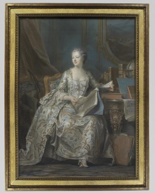 Maurice-Quentin de La Tour, 'Portrait en pied de la marquise de Pompadour (Portrait of the Marquise de Pompadour)', Musée du Louvre