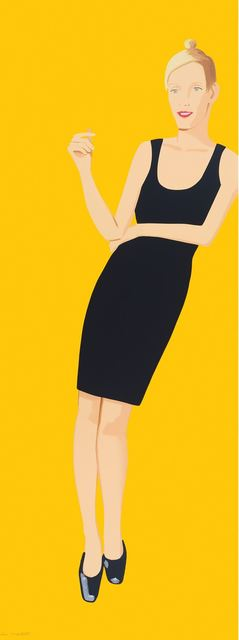 Alex Katz, 'Black dress Oona', 2015, Galerie Barbara von Stechow