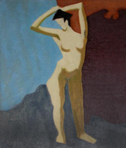 Milton Avery, 'Nude With Upraised Arms', 1945, Joseph K. Levene Fine Art, Ltd.