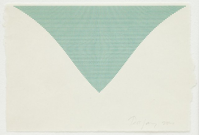 , 'Untitled (Green Triangle),' 2010, Karsten Schubert