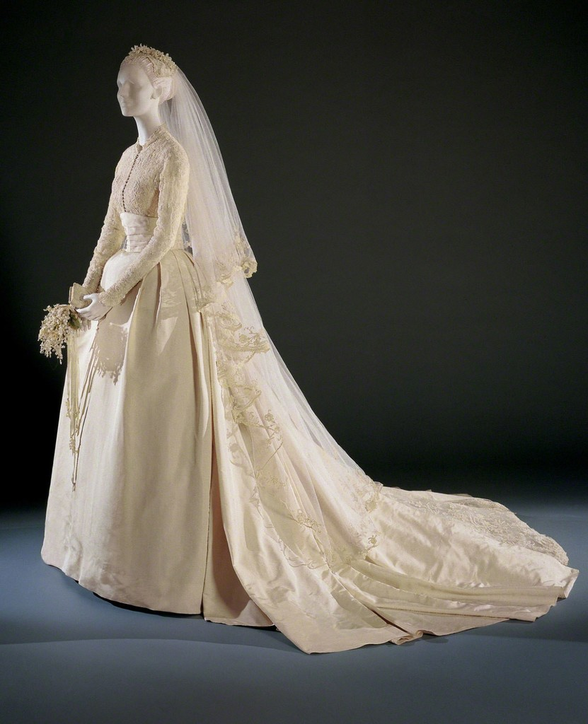 Helen Rose | Grace Kelly\'s Wedding Dress and Accessories (1956) | Artsy